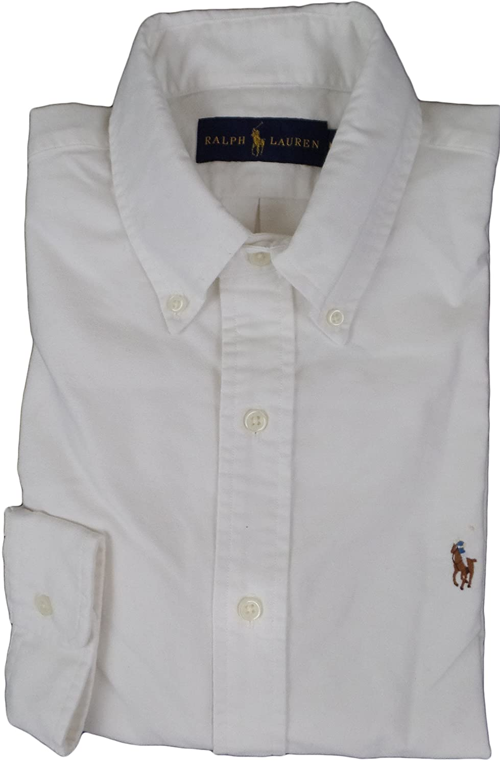 Polo Oxford White Lauren Shirt Medium Classic Ralph Men's 4S3q5cjRLA