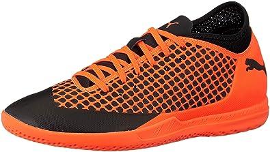 Puma Men s Future 2.4 IT Black-Shocking Orange PumaBlack-ShockingOrange Football  Boots-6 41fea8b8e38