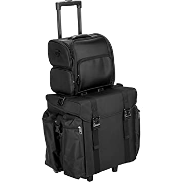 f45c1f9938a0 Amazon.com   JustCase T5372 2-In-1 Professional Soft Sided Hair Stylist  Rolling Makeup Cosmetic Travel Case