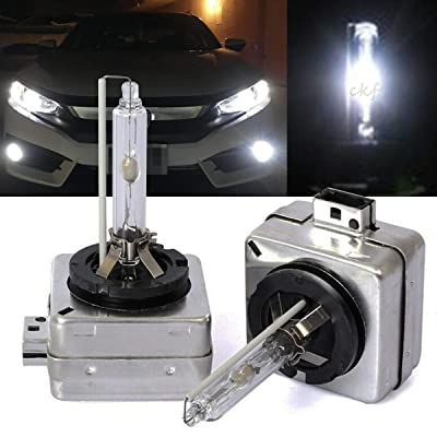 CK FORMULA (Pack of 2) D1S D1R D1C 6000K Diamond White Xenon HID Headlight Bulb (Low Beam) 66147 66144 66049 66410 66146: Automotive