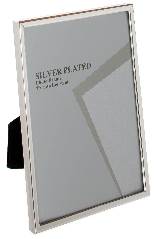 Viceni - Marco para fotos con borde fino, bañado en plata (15 x 20 ...