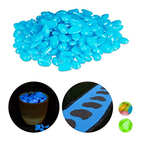 Kieselsteine Deko leuchtend 200 Stück leuchtende Kiesel fluoreszierende Steine G