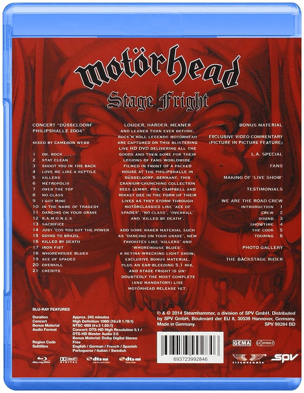 Motorhead: Stage Fright [Blu-ray] [2014]: Amazon co uk: Sven