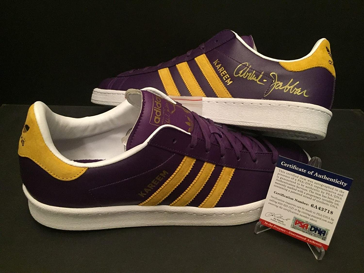 Kareem Abdul-Jabbar Signed Autographed Adidas Shoes Los Angeles Lakers  PSA/DNA - Autographed NBA Sneakers at Amazon's Sports Collectibles Store