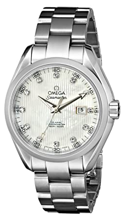 Image Unavailable. Image not available for. Color  Omega Women s  231.10.34.20.55.001 Seamaster Aqua Terra ... ae090f6ccc