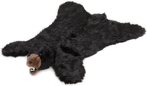 Carstens Plush Black Bear Animal Rug, Large
