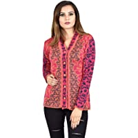 Shree Mark Womens/Ladies/Girls Woolen Full Sleeve Winter Wear Buttoned Cardigan and Womens/Ladies/Girls Woolen Full Sleeve Sweater(Type-Women Woollen Cardigan;Size- Large)