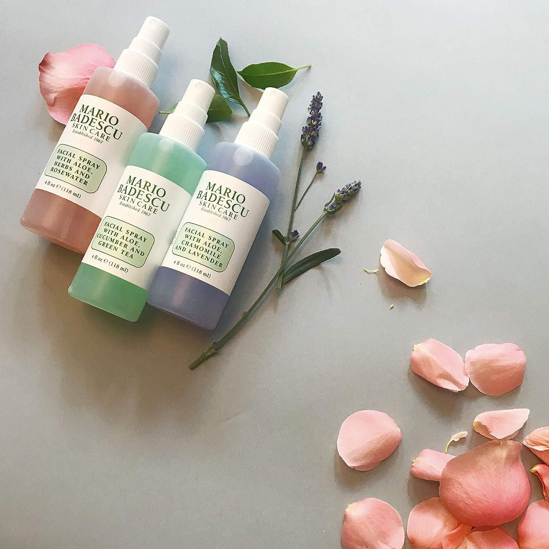 Mario Badescu Spritz Mist and Glow Facial Spray Collection Trio, Lavender, Cucumber, Rose: Premium Beauty
