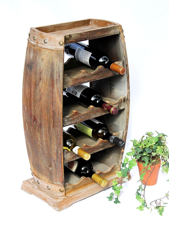 DanDiBo Weinregal Weinfass 1549 Bar Flaschenständer 70 cm für 13 Fl ...