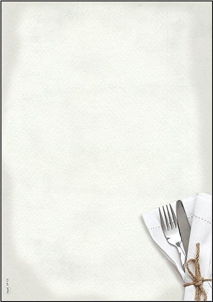 SIGEL DP125 Papel de cartas, 21 x 29,7 cm, 90g/m², Menú de ...