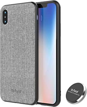 iPhone X Funda de Magnética Carcasa Patrón de tela de plastico PC ...