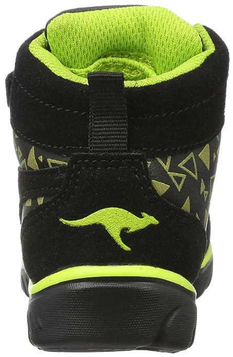 KangaROOS Inlite Glow Hi, Sneaker Unisex-Bimbi, Nero (Jet nero/Lime 5008), 21 EU