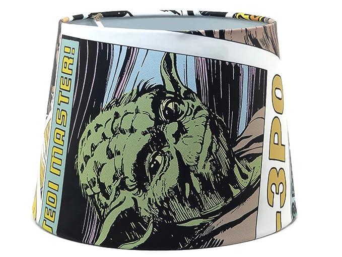 Star Wars Lampshade Or Ceiling Light Shade 9.5u0026quot; DUAL PURPOSE Comic  Book Lamp Shade Yoda