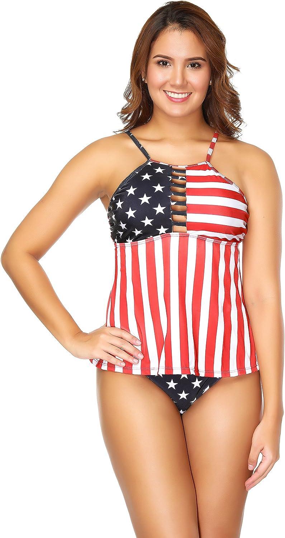 Traje de Baño Bikini Impreso BarónHong American Stripe Flag Bikini Mujeres: Amazon.es: Ropa y accesorios