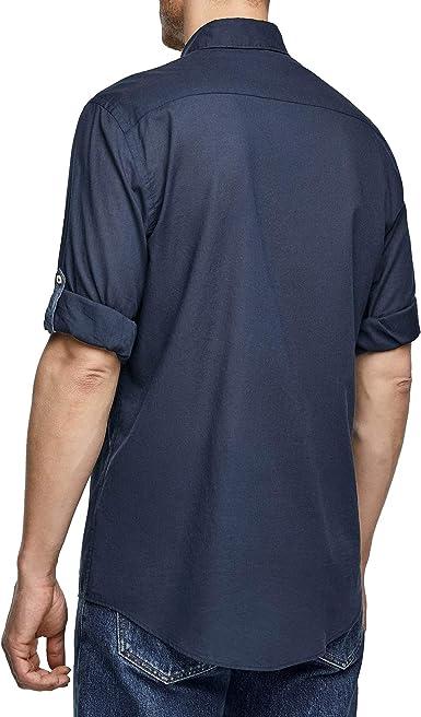 Zara 6048/400/401 - Camisa para Hombre Azul Azul XXL: Amazon ...