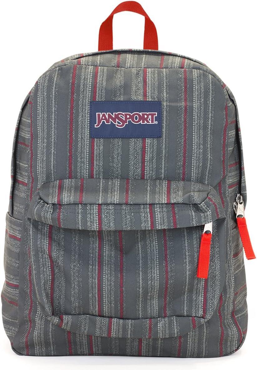 Jansport Superbreak Backpack red tape'stripe