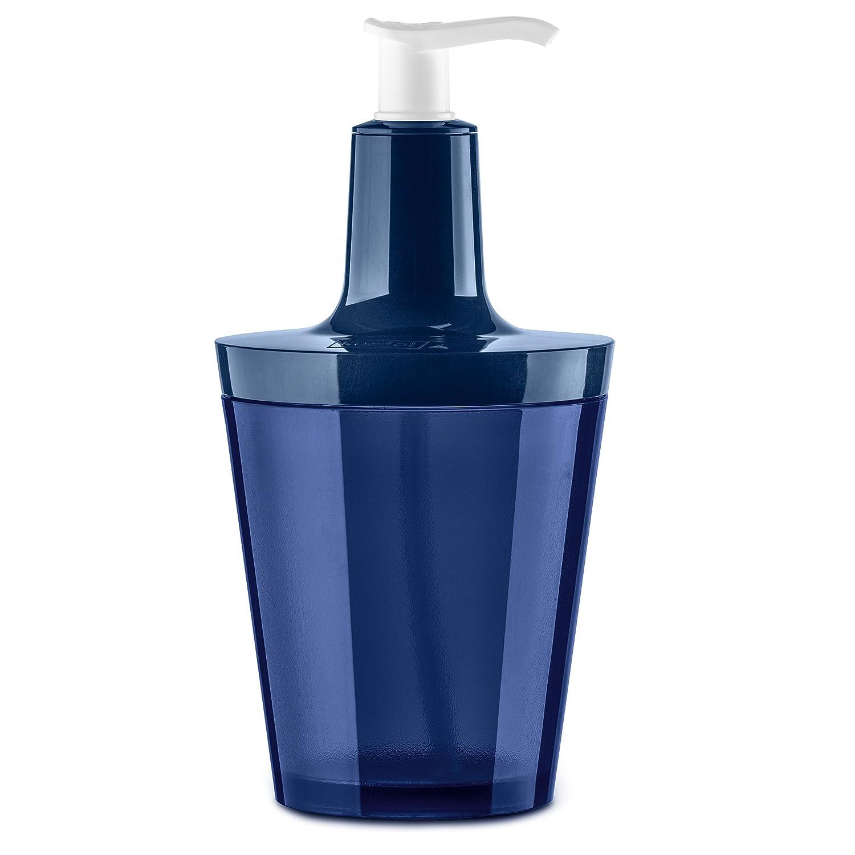 koziol dispenser per sapone, in termoplastica, colore: Trasparente/profondo velluto blu 5879484