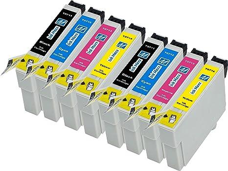 Ink Maxx PK 8 T0715 XL Cartucho de tinta compatible por Epson ...