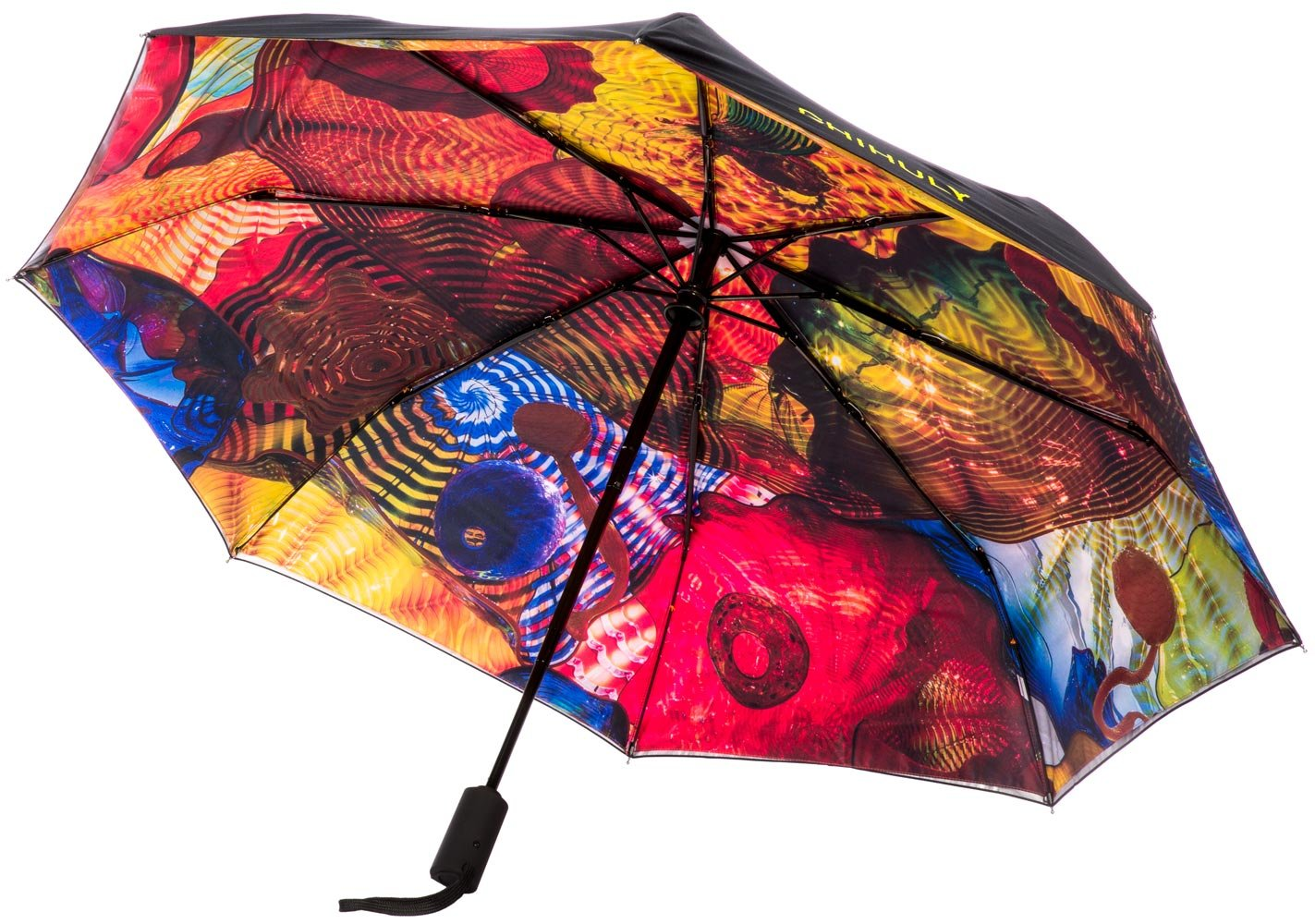 Chihuly Pergola Folding Black Umbrella