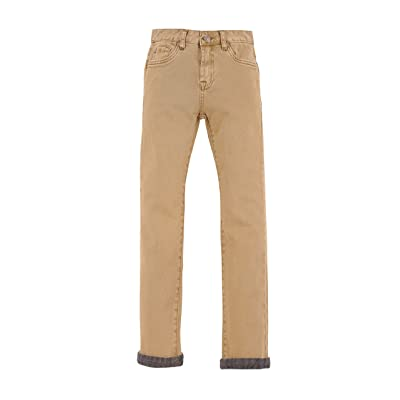 7 For All Mankind Kids Mens Stretch Twill Slimmy Pants In Khaki (Big Kids)