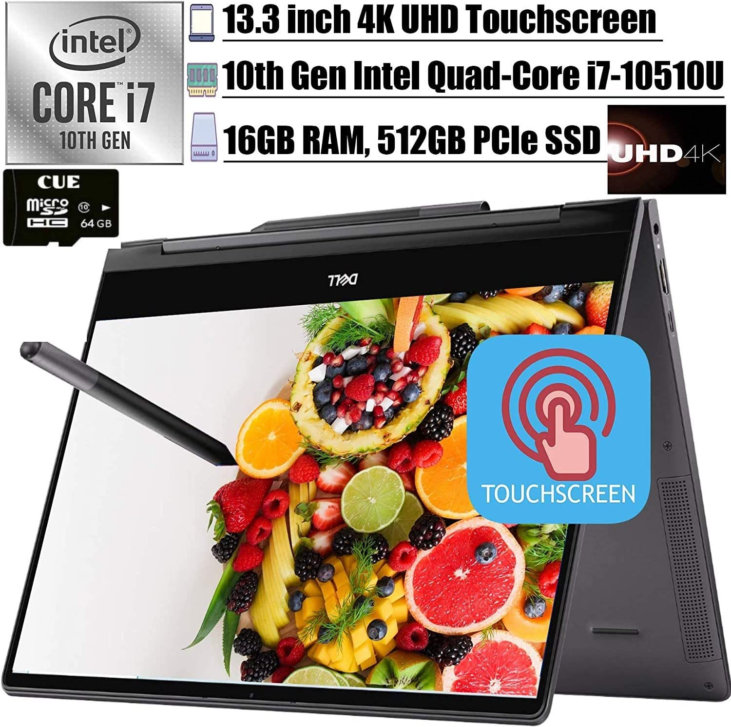 2020 Latest Dell Inspiron 13 7000 2-in-1 Laoptop 13.3