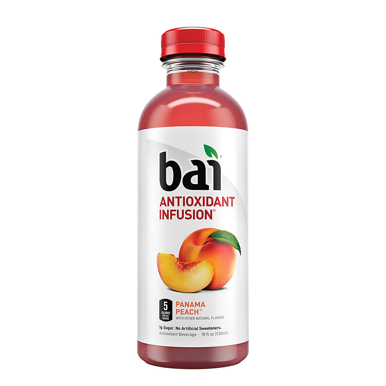 Bai Panama Peach, Antioxidant Infused Beverage, 18 ounce bottle