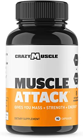 Powerful DHEA Supplement Muscle Attack is a Testosterone Booster for Men and Women to Increase Maintain Test Levels and Prevents Side Effects – Bodybuilding Supplements by Crazy Muscle – 90 Tablets