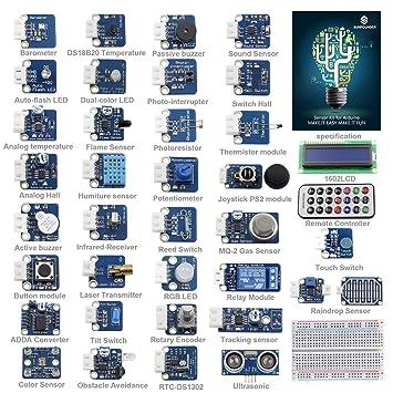 SunFounder Ultimate Sensor Kit for Arduino UNO R3 Mega2560 Mega328 Nano - Including 98 Page Instructions