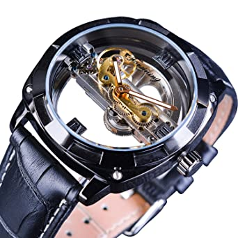 Forsining City Fashion Steampunk Official Limited Skeleton Automatic Wristwatch