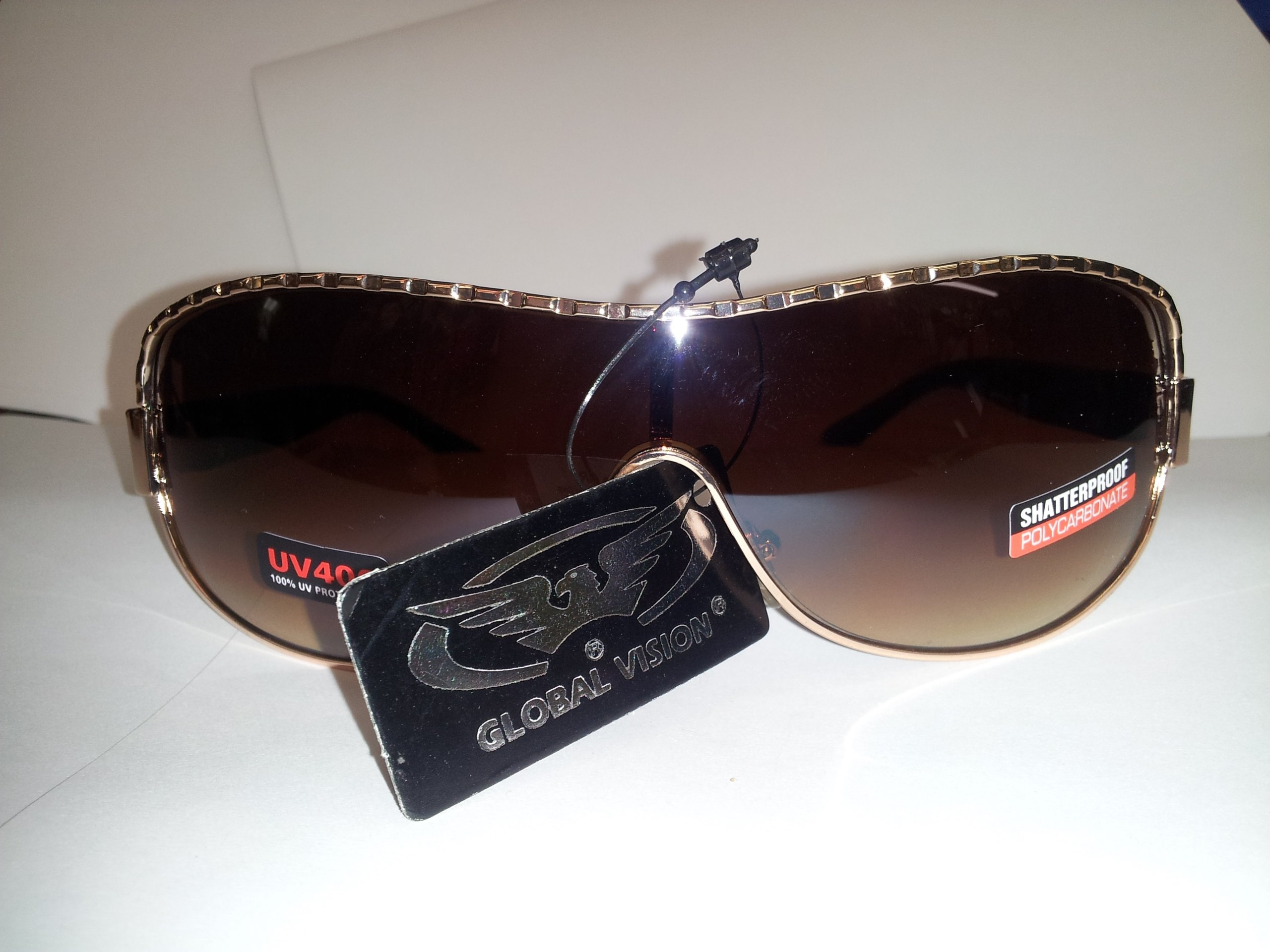 Global Vision Paradise Aviator Sunglasses Bronze Frame/brown Gradient Lens by Global Vision Eyewear