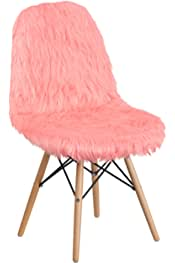Flash Furniture Shaggy Dog Hermosa Pink Accent Chair