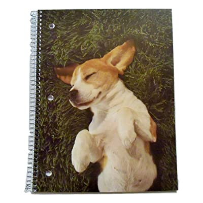 "Staples Wide Ruled Animal Spiral Notebook ~ Backyard Bliss (70 Sheets, 140 Pages; 8.25"" x 10.5""): Toys & Games"