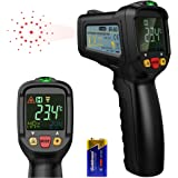 [Infrared Thermometer] Dr.meter Non-Contact Laser Thermometer FDA Approved Temperature Gun -58℉ - 1022℉ for Cooking BBQ Automotive Industrial with HD Backlit LCD Display, Battery Included