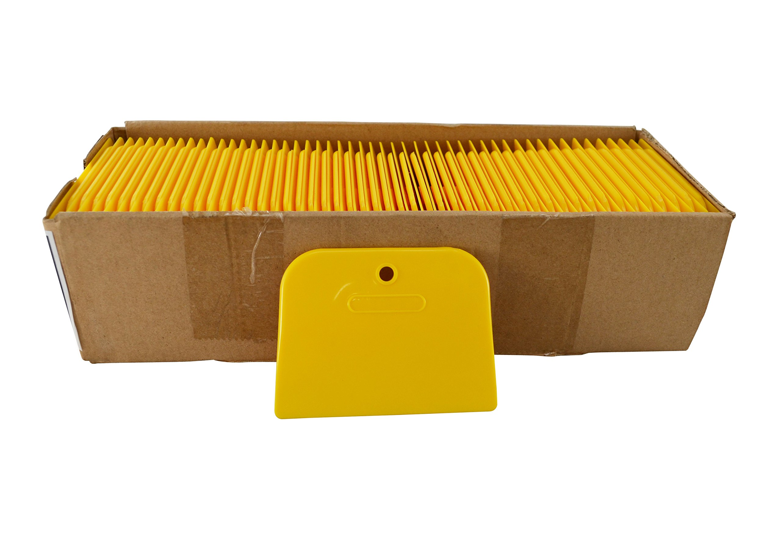 Astro 4526 Yellow 4'' Plastic Spreader, Box of 100