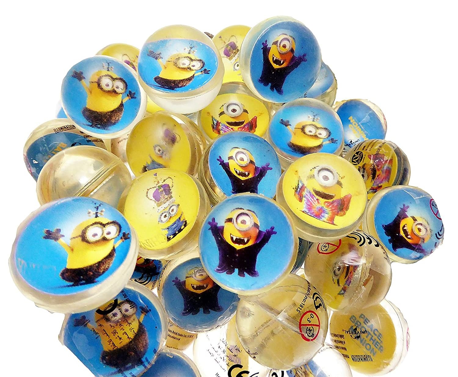 12 x Despicable Me Minion Movie Bouncy Jet Balls Party Bag ...