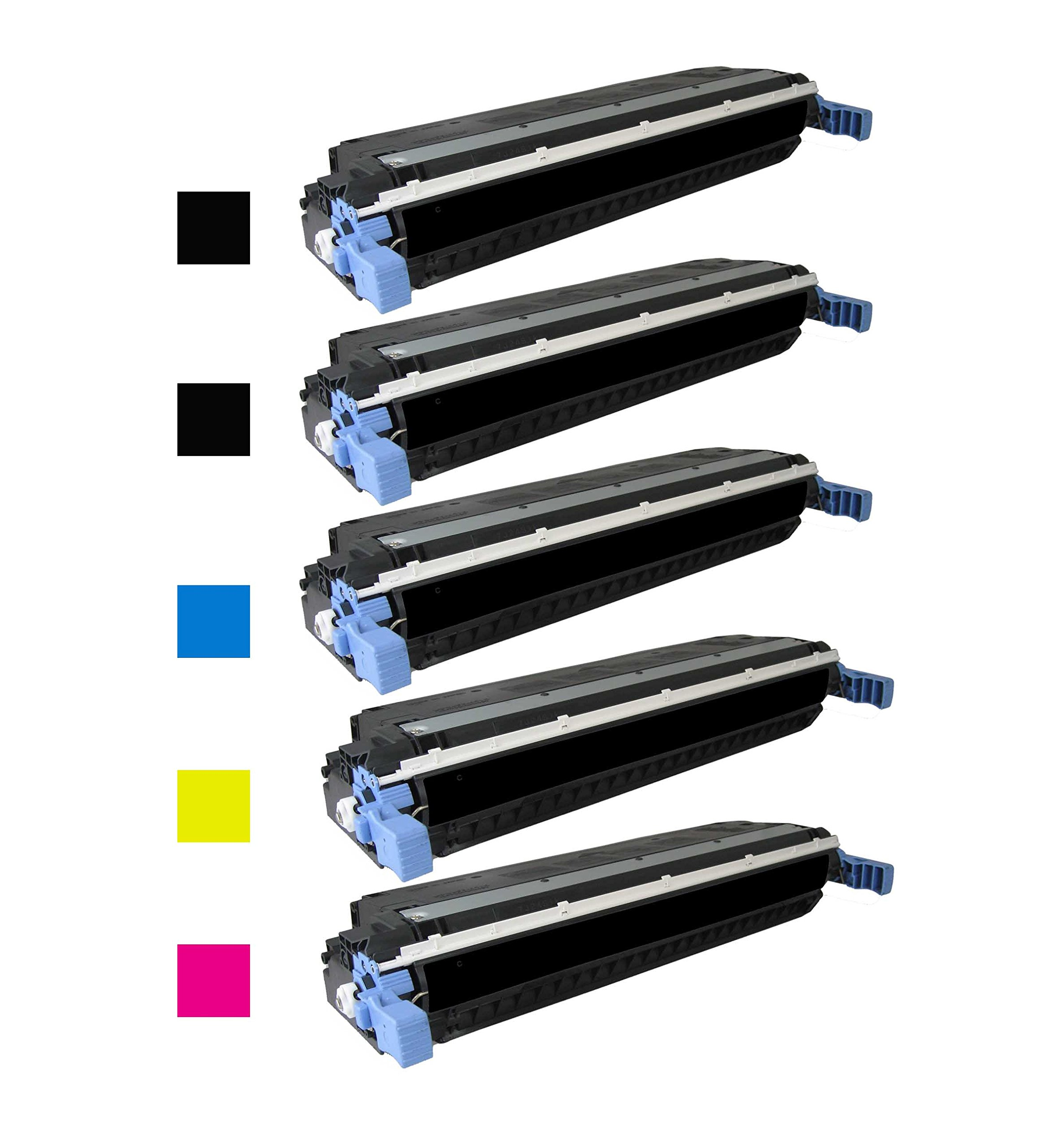 Green Toner Supply Remanufactured Toner Cartridge Replacement for HP Q6470A Q6471A Q6472A Q6473A (2 Black, 1 Cyan, 1 Yellow, 1 Magenta, 5-Pack)