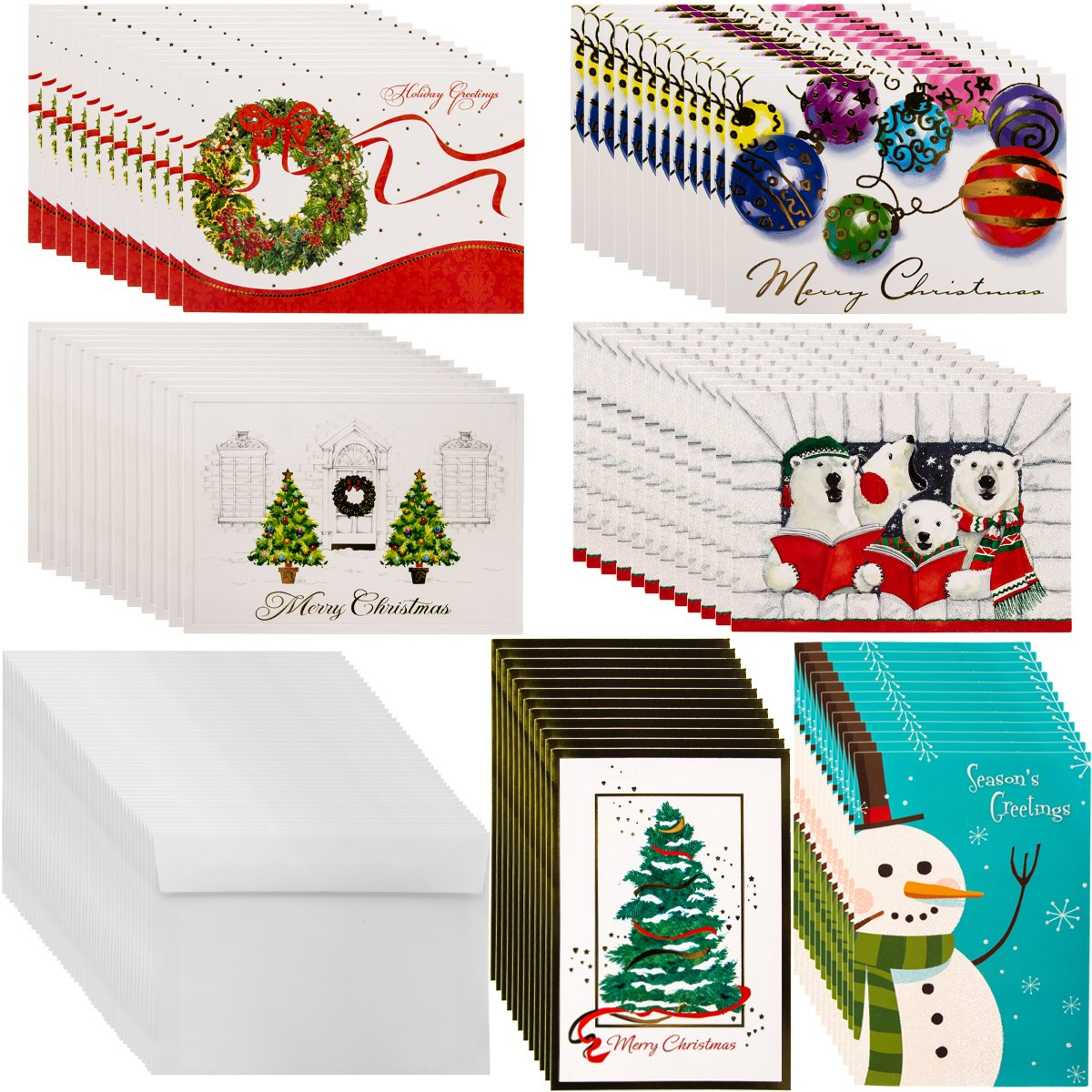Amazon.com : Designer Greetings (72ct) Holiday Cards & Envelopes ...