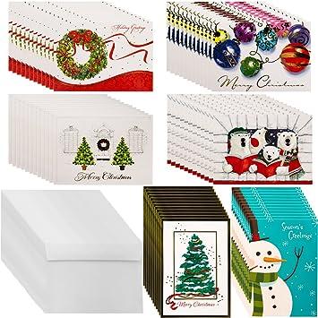 Amazon.com : Designer Greetings (72ct) Holiday Cards & Envelopes ...