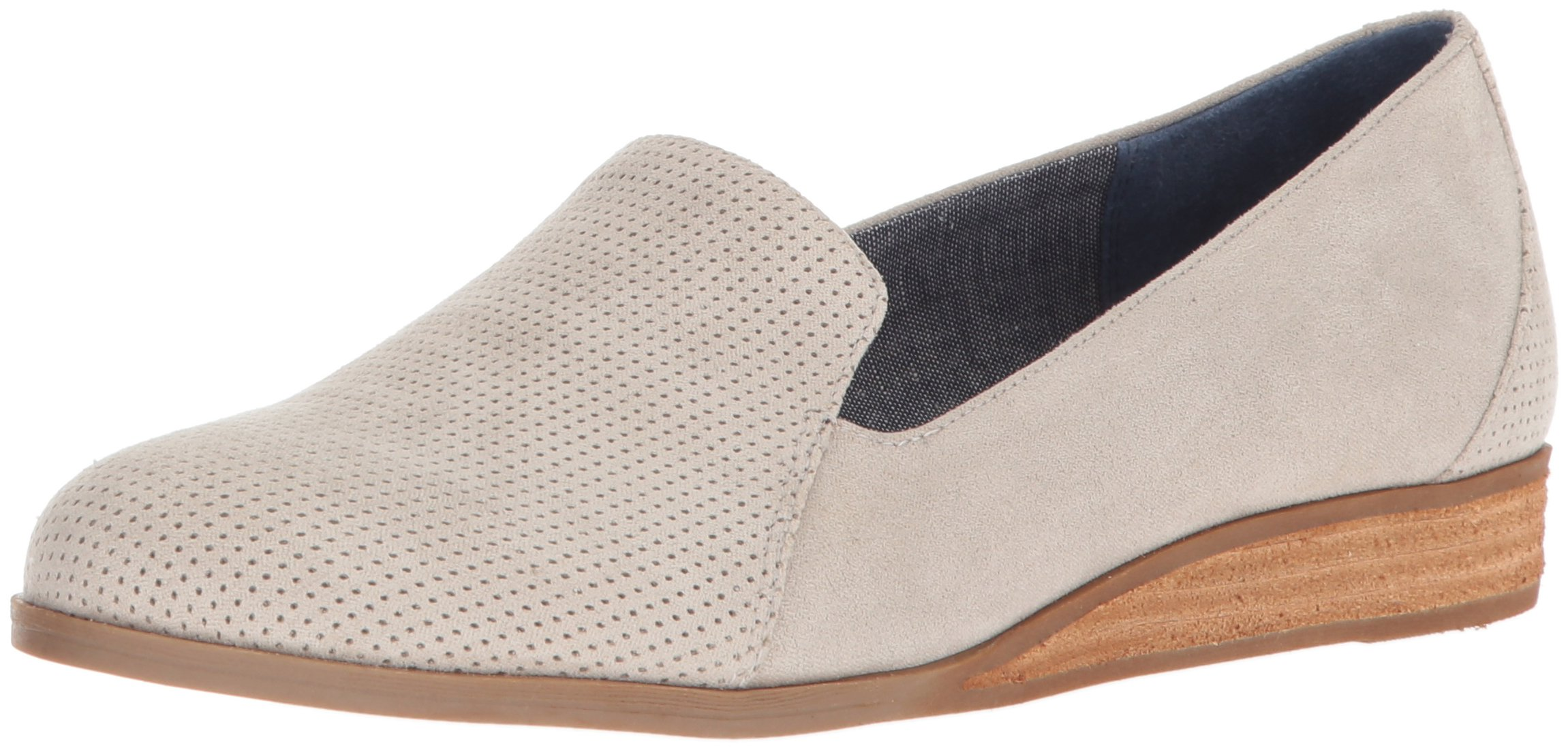 Dr. Scholl's Shoes Women's Dawned Loafer, Grey Microfiber, 7 M US