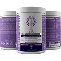 Hydrolysed Collagen Protein Peptides Powder For Younger Skin; Stronger Bones & Muscles; Less Joint Pain; Healthy Hair & Nails; Helps Leaky Gut & Sleep - 20x MORE COLLAGEN + 15x CHEAPER THAN CAPSULES - No Additives or Heavy Metals - Dairy, Gluten, Sugar Free - Kosher & Halal Certified, Anti-Doping - WADA, Purest Protein Powder Perfect for Athletes, Exercise & Keto - Tasteless, Odourless, Dissolves - 400g Recyclable Tub, 1 Month Supply; Trusted UK Seller, BEWARE CHEAP AND INFERIOR COLLAGEN