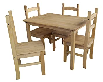 Mercers Furniture Corona Budget Dining Table And 4 Chairs Pine