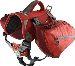 Kurgo Dog Saddlebag Backpack   Back Pack Dog Harness   Hiking Pack for Dogs   Packs for Pets to Wear   Camping & Travel Vest Harness   Reflective   Lightweight   Baxter Pack   For Medium & Large Pets