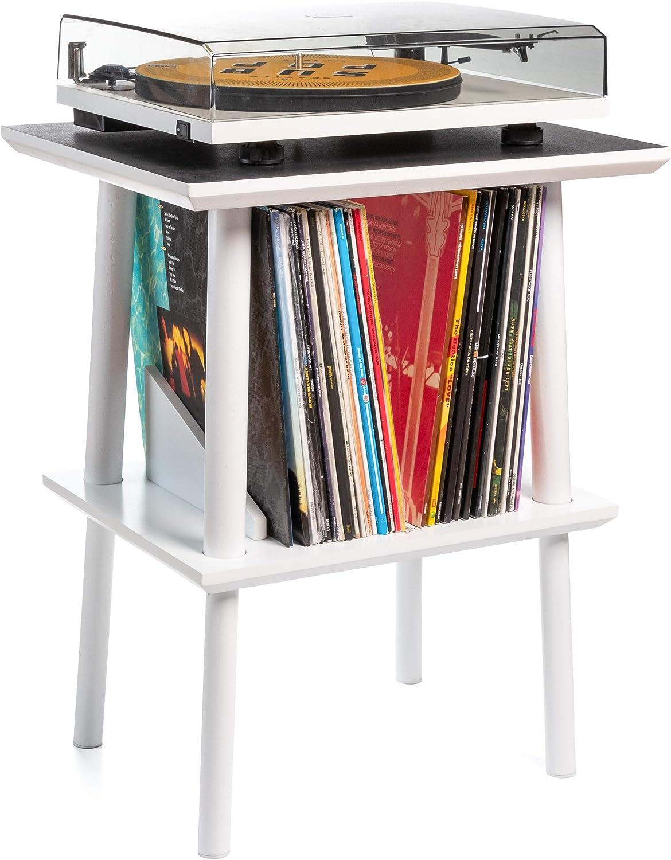 Premium Record Player Stand w/Vinyl Storage