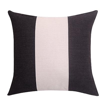 Amazon BreezyLife Stripe Throw Pillow Cover Black And White Gorgeous White Decorative Pillows For Couch