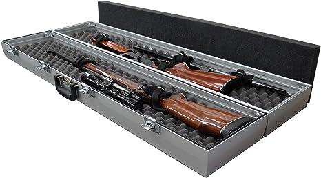 americase-premium doble Rifle o estuche para escopeta – hecho en los EE. UU.: Amazon.es: Deportes y aire libre