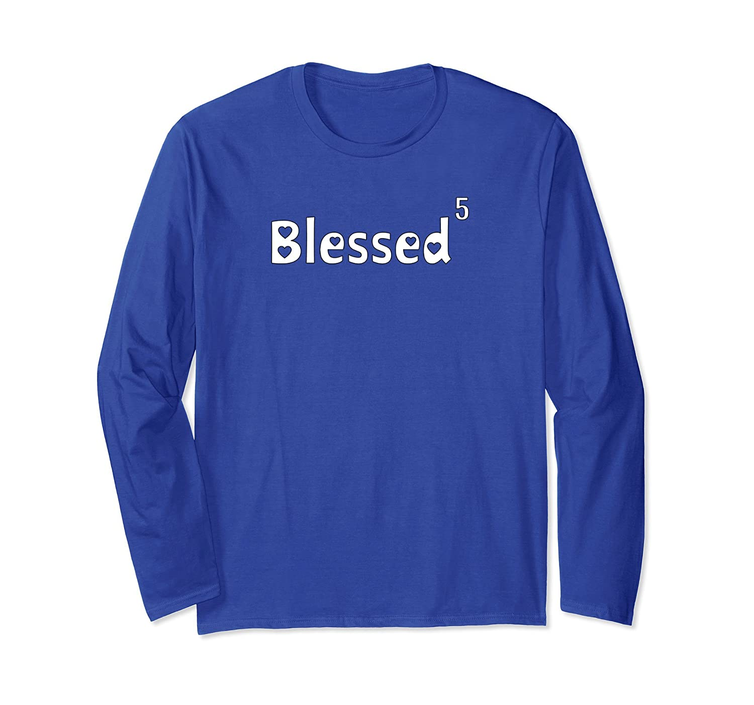 Blessed 5 - Mothers Day Long Sleeve Shirt for Mother of Five-TH