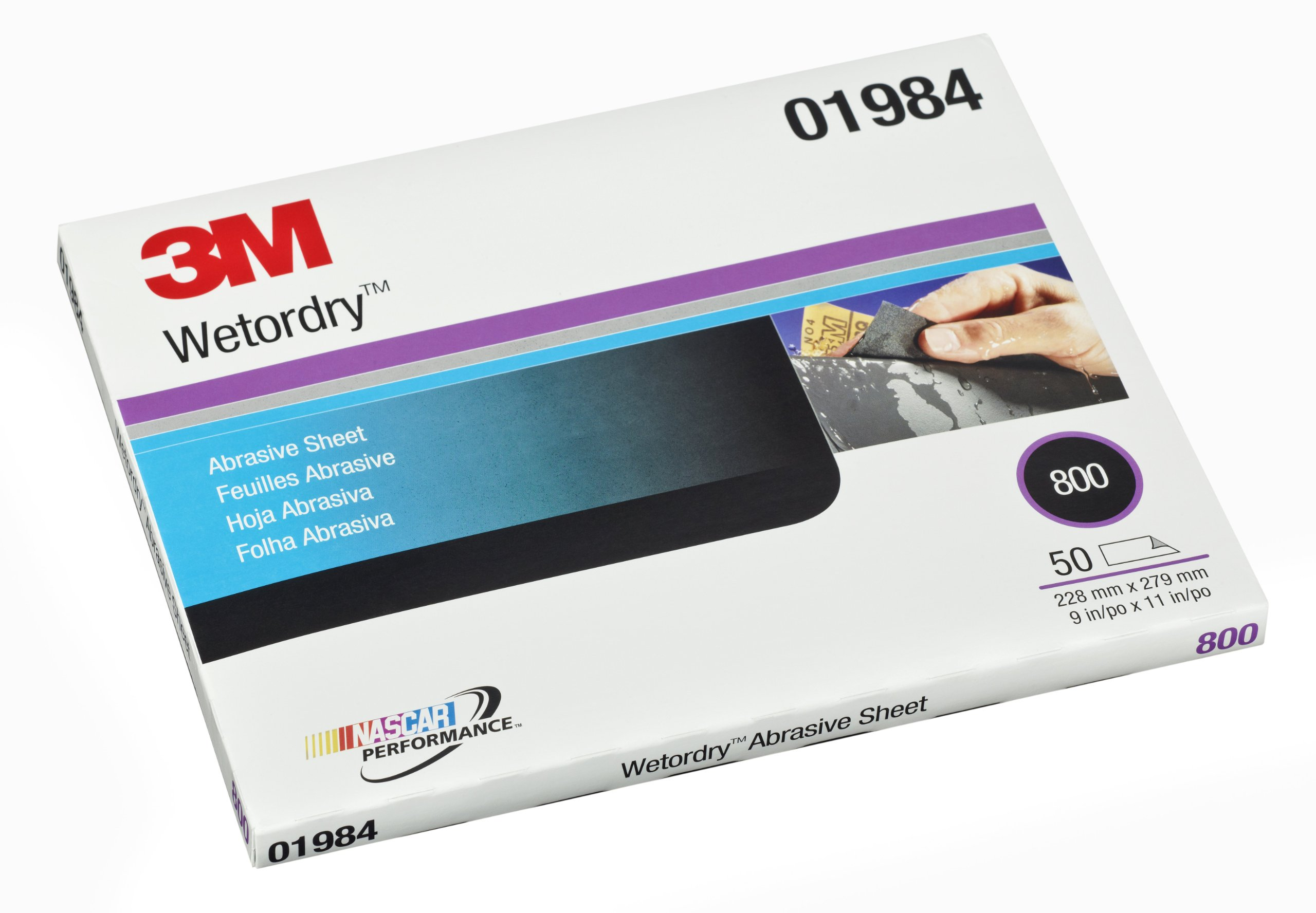 3M 01984 Wetordry 9'' x 11'' 800 Grit Abrasive Sheet by 3M (Image #1)