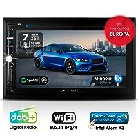 Autoradio Android CREATONE AMG-3030 | 2DIN Naviceiver | GPS Navigation (aktuelle Europa-Karten mit Radarwarnungen) | DAB+ DigitalRadio | DVD-Player | Touchscreen 7 Zoll (18cm) | USB bis 4TB l Quad-Core 64-Bit CPU Intel Atom x3 4x1,2GHz | 16GB integriert | Full HD 1920x1080 Video Unterstützung | WLAN | Bluetooth mit iOS und Android | MirrorLink | OBD 2 | RDS