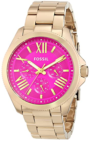 4d0ddbc0d9d3 Fossil Women s AM4539 Cecile Gold-Tone Stainless Steel Watch  Fossil   Amazon.ca  Watches