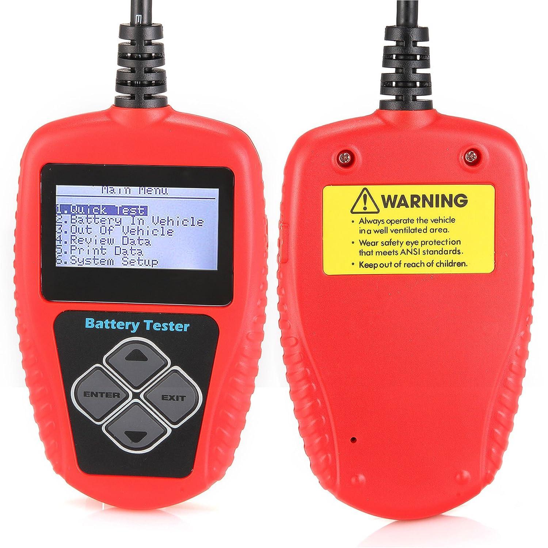 Quicklynks KDator BA101 per verificare direttamente lo stato della batteria Tester per batterie 12 V con intervallo di valori da 100 a 2000 A per capacit/à di spunto/a freddo